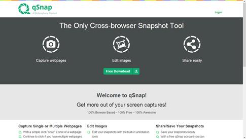 Completo gestor de capturas de pantalla para páginas web