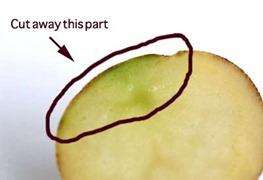 احذر من تناول هذه البطاطس - اللون الاخضر سام