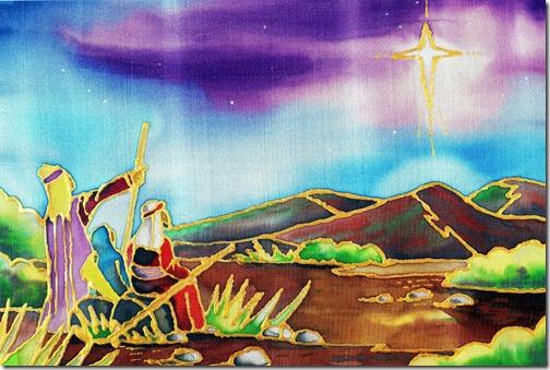 A estrela Guia_ original pintada com a boca_KYRIACOS KYRIACOU