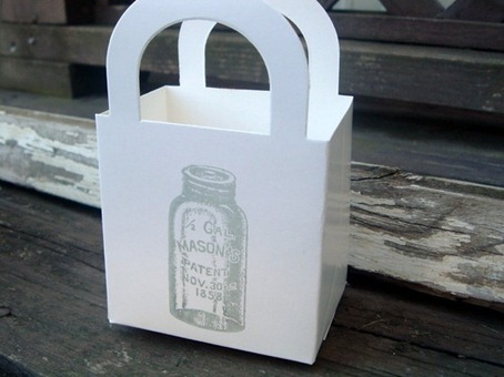 Mason jar theme favor box