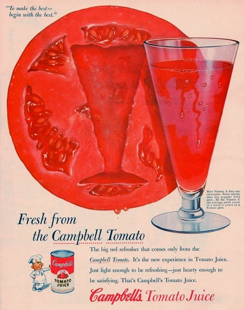 campbells tomato juice 1954