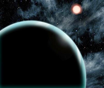 ilustração do exoplaneta Kepler-421b