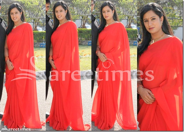 Priya_Red_Plain_Saree