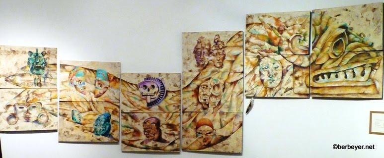 Acrilicos for Mural quetzalcoatl