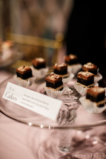 The. Best. Wedding. Cake. Ever -- amazing chocolaty samples from Ron Ben-Israel.