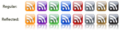 glass rss icons