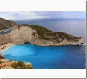 Navagio Beach, na ilha de Zakynthos, na Grécia Autor Blog Compartilhando Viagens