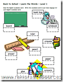 Back to School Vocabulary Packet - Free
