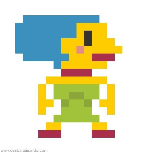super herois e viloes em 8 bits os simpsons (1)