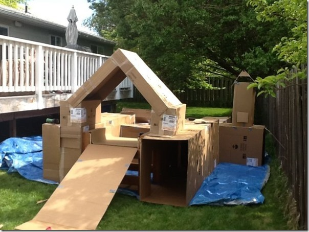 Como fazer um playground com caixas de papelão vazias (4)