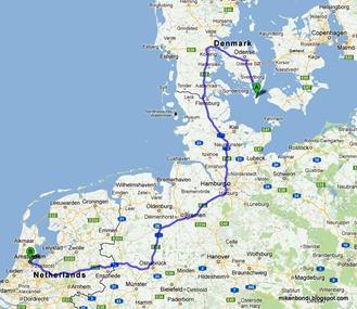 Langeland to Amsterdam