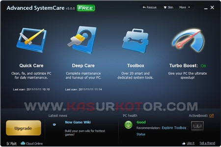 Optimalkan Windows dengan Advanced System Care V5