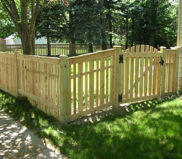 Lg Good Neighbor provincial wood fence