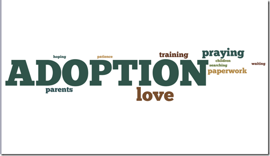 Wordle for adopt