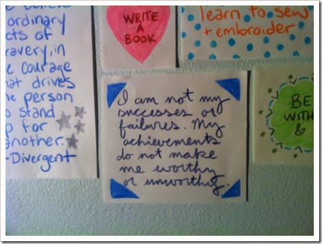Wisdom from Courtney's Wall