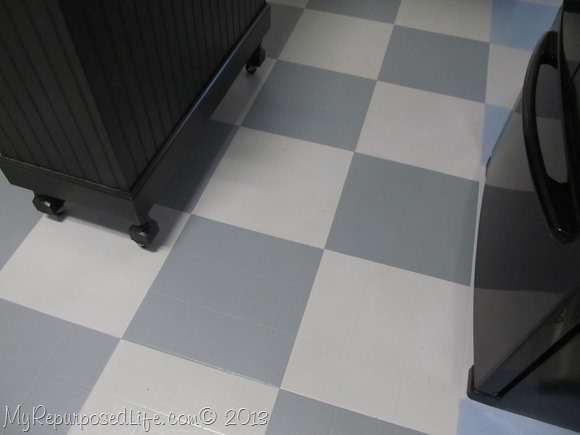 Painting a kitchen floor for Can you paint vinyl tile