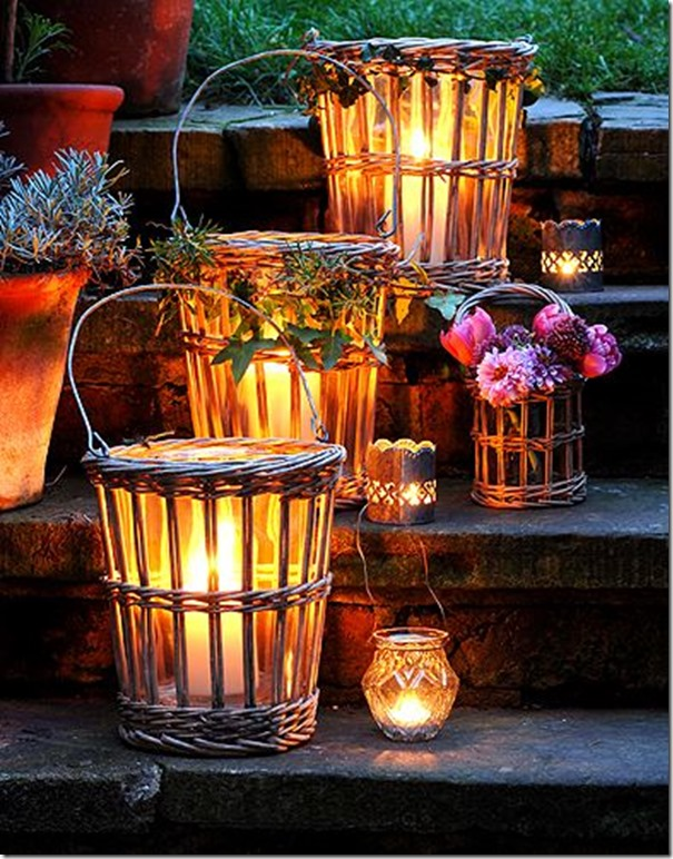 basket candles