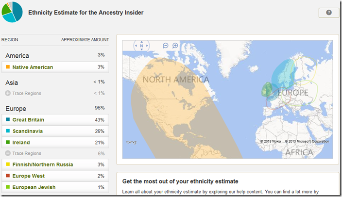AncestryDNA new ethnicity report