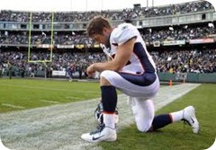 tebow praying