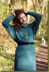 How to wear a vintage batwing dress