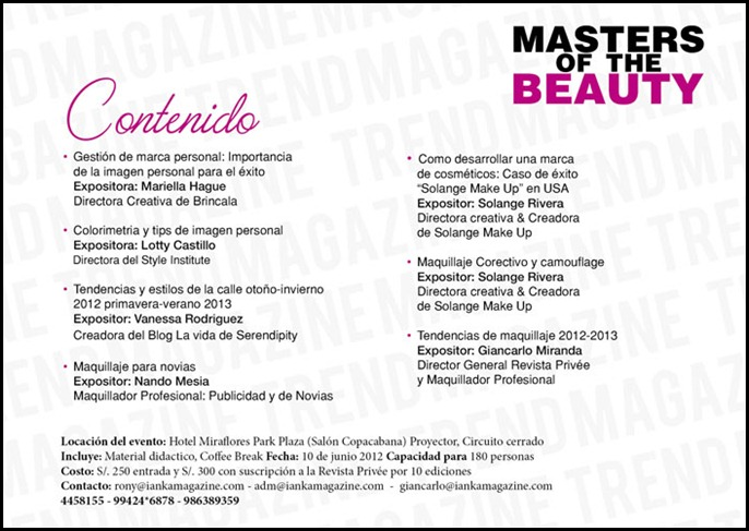 presentacion masters of the beauty