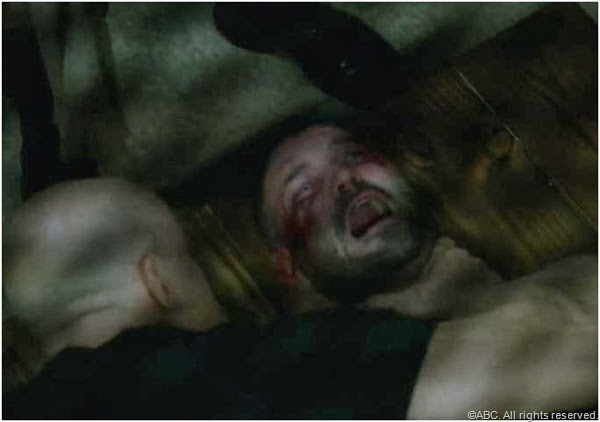 The infamous waterboarding of Huck (Guillermo Diaz) in SCANDAL.