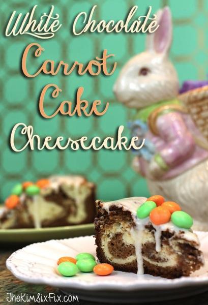 White Chocolate Carrot Cake Cheesecake