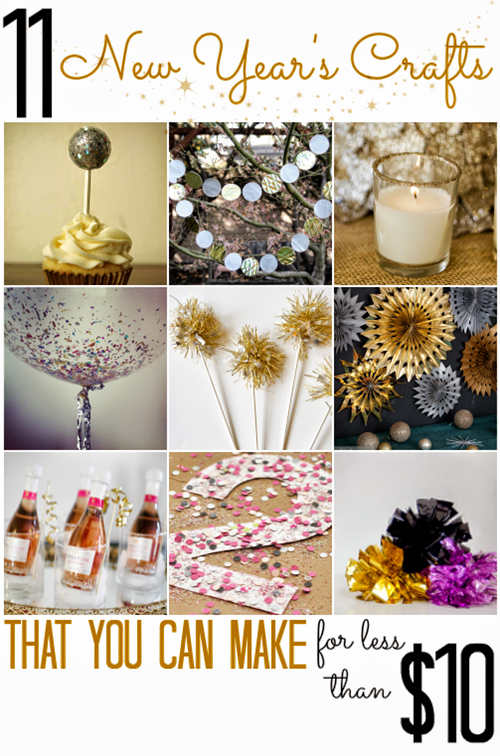 11 New Year's Crafts (that you can make for less than $10!)