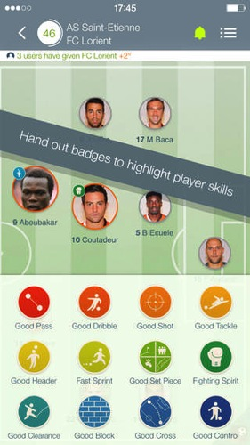 Match of the player soccer rating ios app1