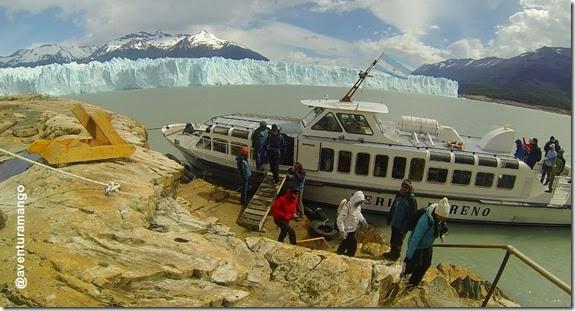 Desembarcando Perito Moreno