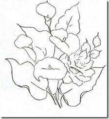 risco flor pintura em tecido 3
