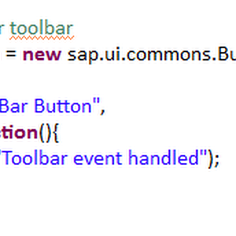 Table with toolbar and Extension toolbar