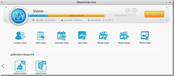 PhoneClean 3 Toolbox