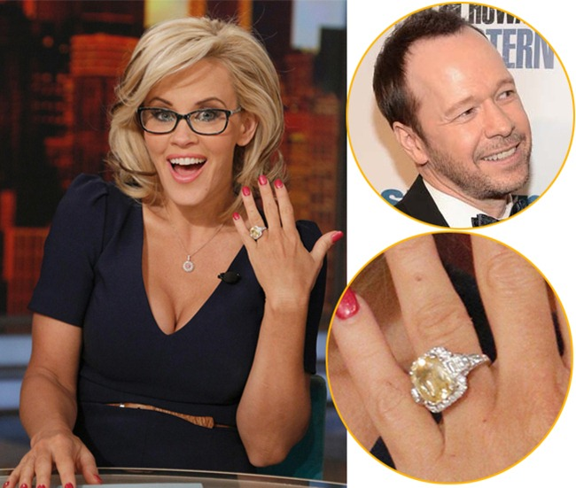 Jenny McCarthy is engaged with her yellow sapphire and diamond engagement ring