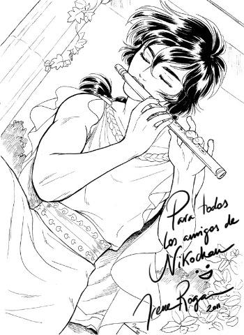 Dibujo dedicado de Irene Roga para Nikochan :)