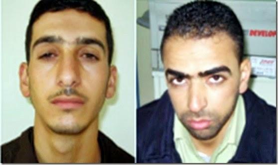 Amer Abu Aysha (left) & Marwan Kawasme Murder Suspects