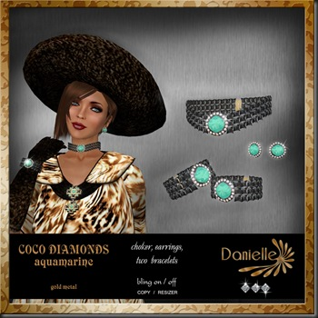 DANIELLE Coco Diamonds aquamarine