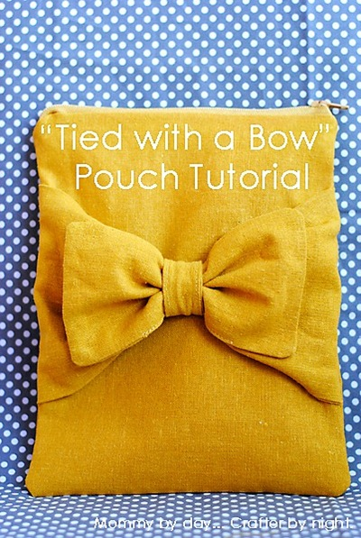 tied with a bow pouch tutorial