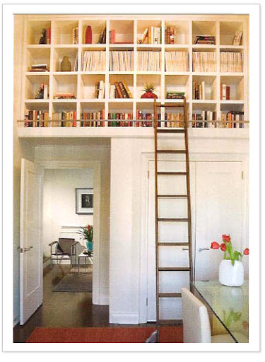 I love how this designer uses the height of a room to her advantage (from http://robynclarke.com)