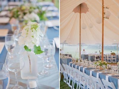 Alden Blair Events White and Blue Wedding
