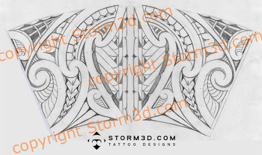 ankle band lower leg tattoo sketch jpg maori inspired tattoo designs ...