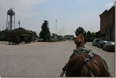 We took a buggy tour pulled by a horse named Spud - our driver was an Amish fellow named Leroy