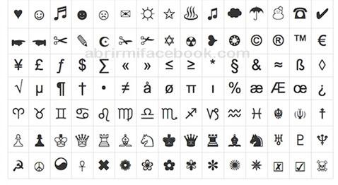 Símbolos para pegar en tu Facebook