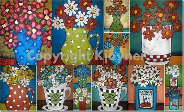 Folk Flower Art By KJoyner