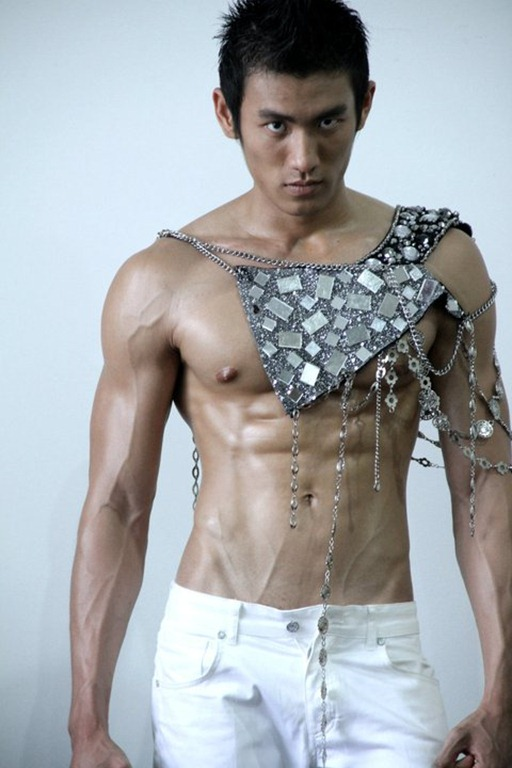 Asianmales-Little Shirtless Sexy with Unknown Male Model-02
