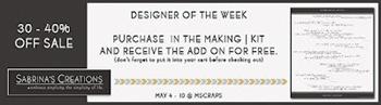 MSraps Designer of the Week Promo