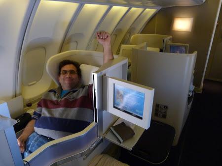 Zborul spre Canada: Business class BA
