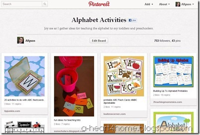 pinterest screen shot board
