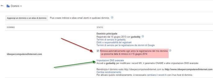 google apps-rinnovo-dominio-automatico