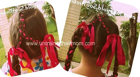 braided ribbon hairstyle